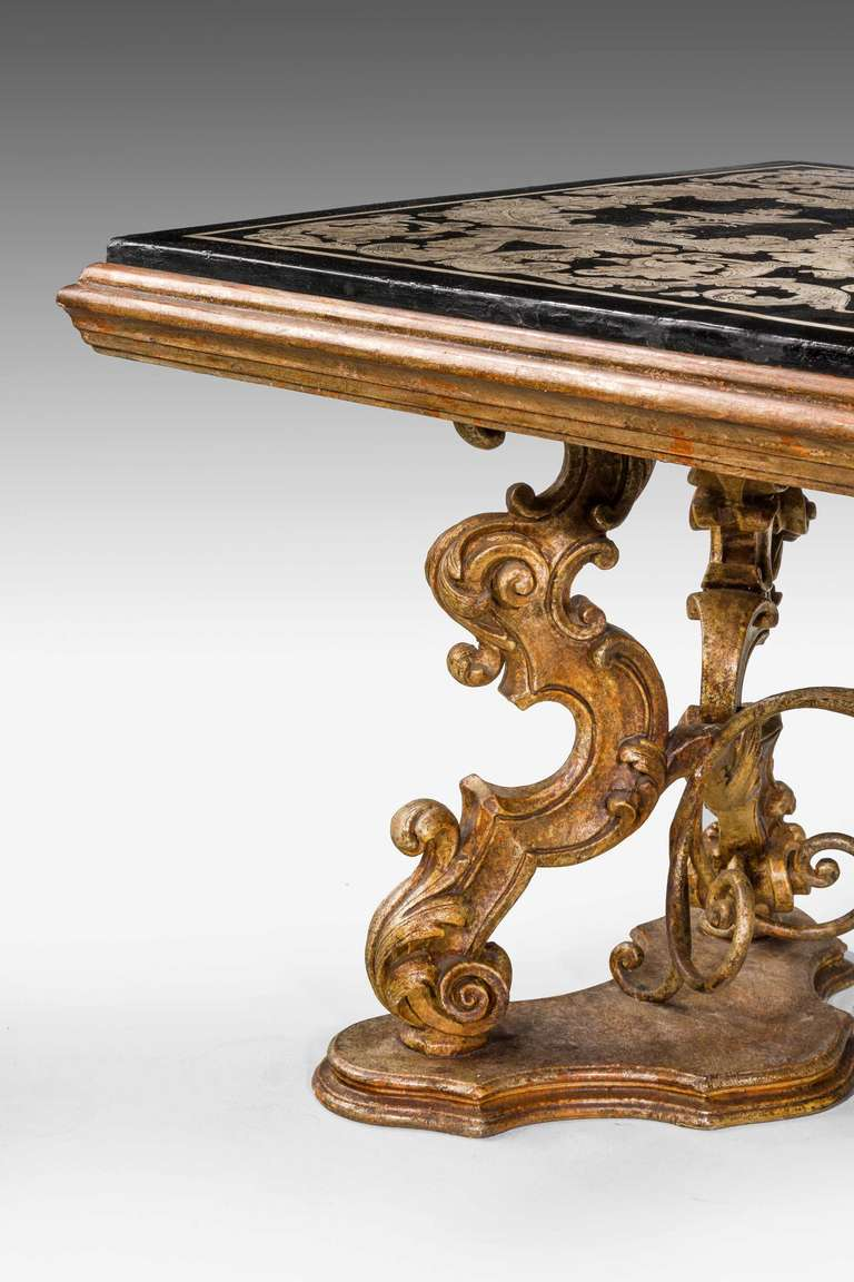 18th Century and Earlier Late 16th Century Scagliola Panel-Top Table For Sale