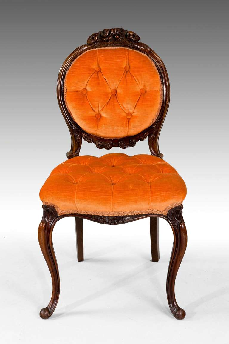 Six rosewood single chairs and a stool en suite at 1stdibs for Single dining room chairs