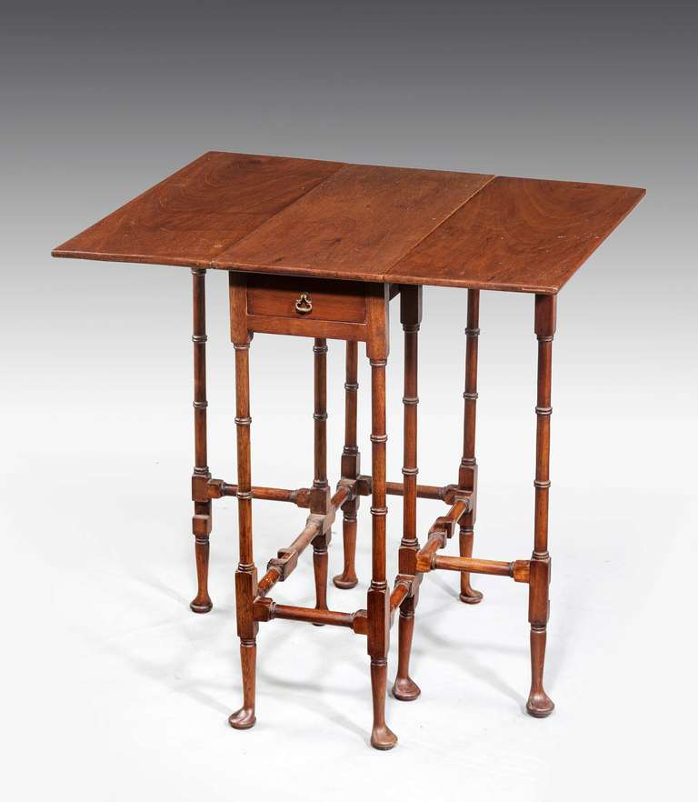 A George III Style Mahogany U0026quot;Spider Legu0026quot; Table, The Supports With