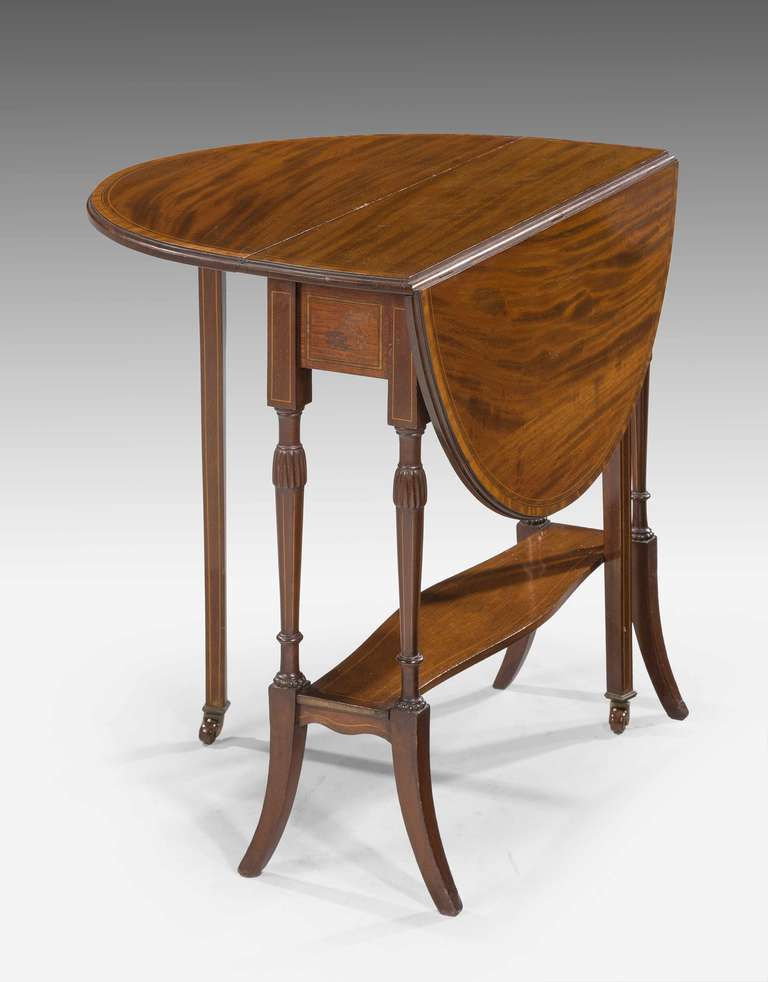 Late Victorian Or Edwardian Period Mahogany Sutherland Table At 1stdibs
