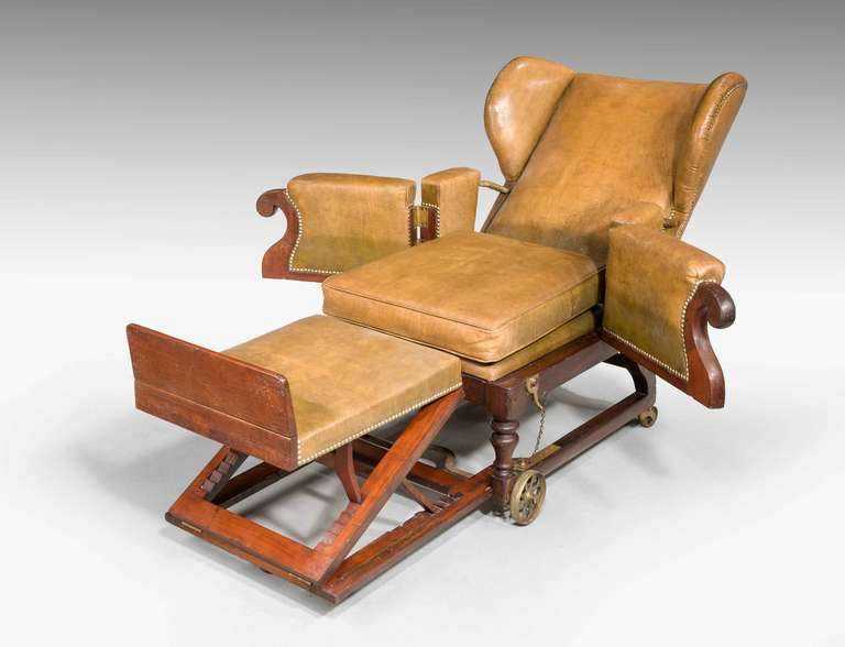 19th Century Invalids Chair Stamped J Ward For Sale At