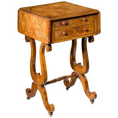 Regency Period Amboyna Work Table