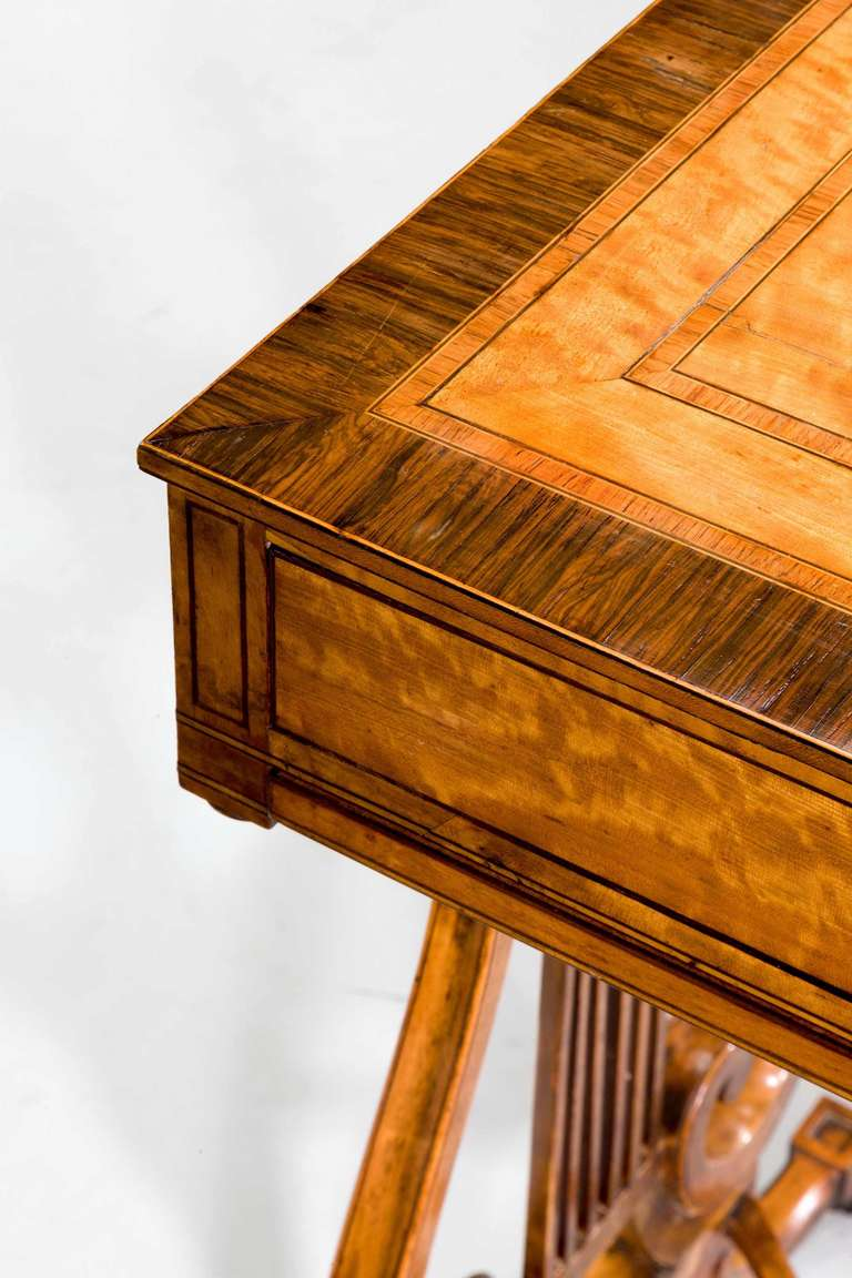 British Late 18th Century Satinwood Work Table For Sale
