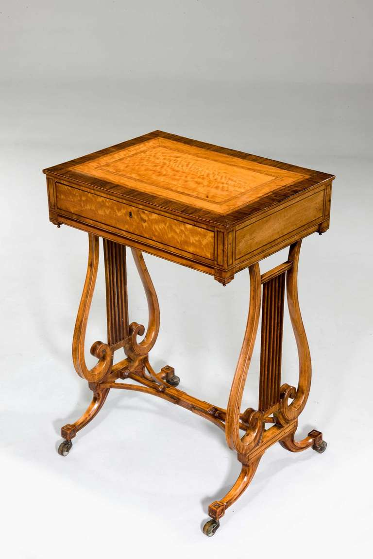 Late 18th Century Satinwood Work Table In Good Condition For Sale In Peterborough, Northamptonshire