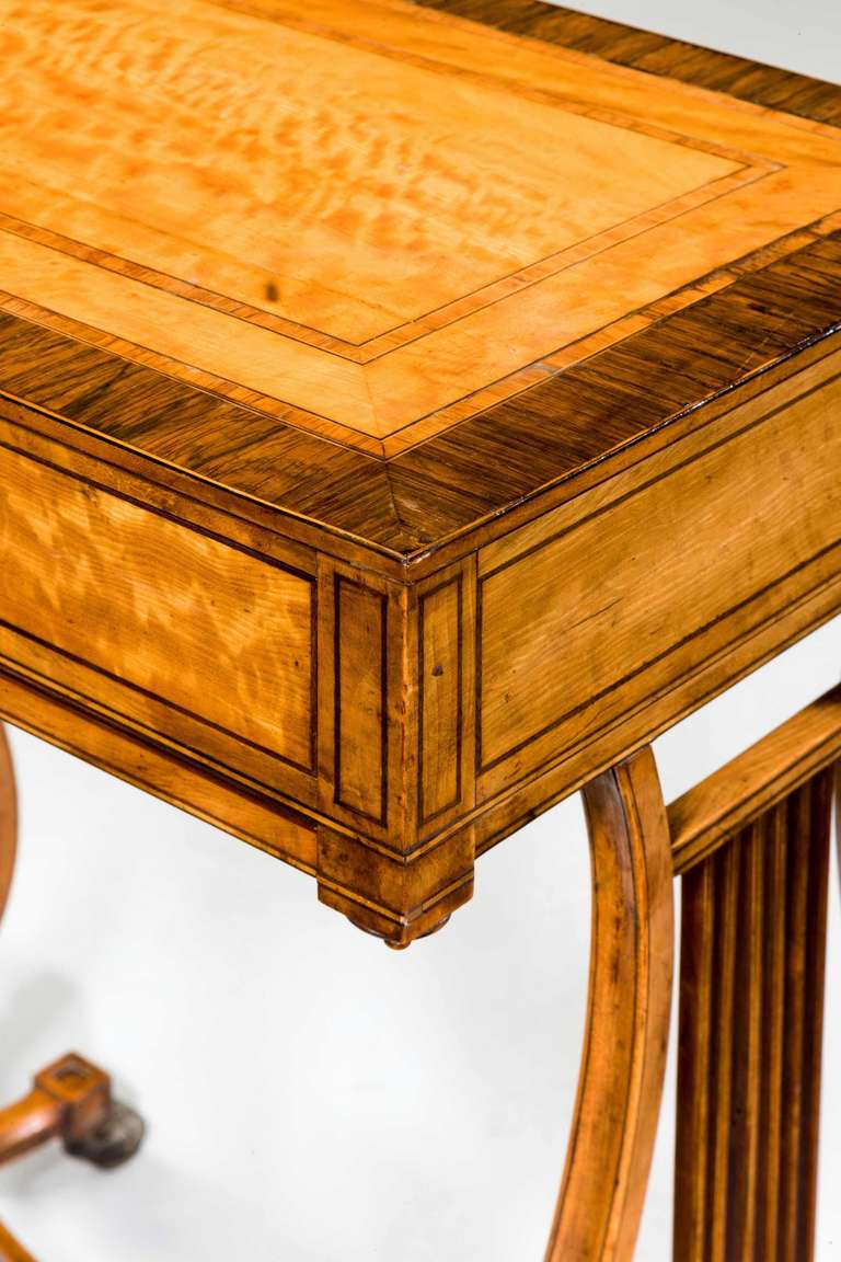 18th Century and Earlier Late 18th Century Satinwood Work Table For Sale