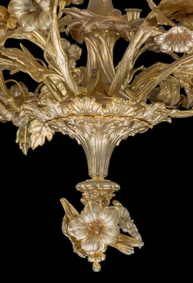 Late 19th Century Gilt Bronze Chandelier At 1stdibs