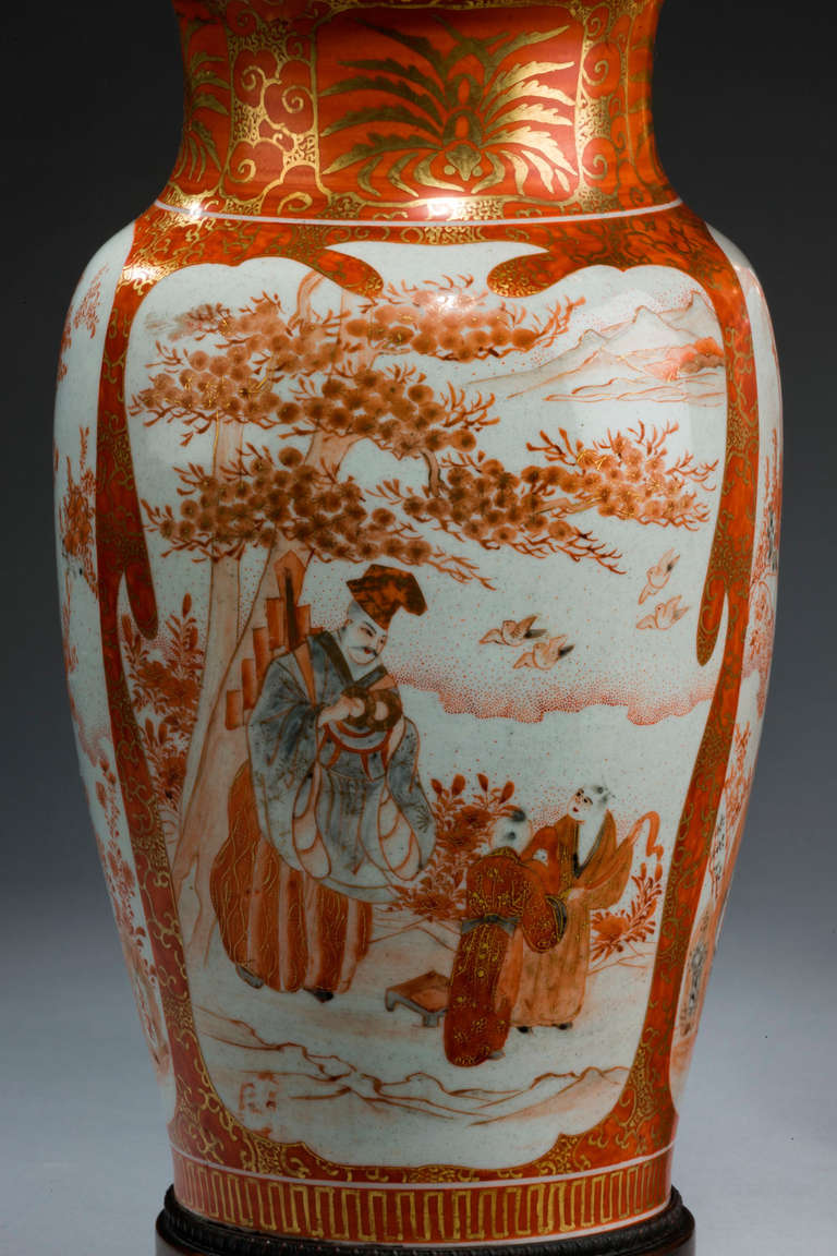 Pair of late 19th century japanese satsuma vase lamps for sale at pair of late 19th century japanese satsuma vase lamps in excellent condition for sale in peterborough reviewsmspy
