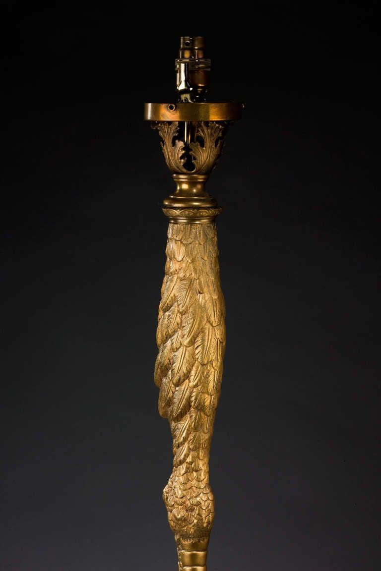 1920s Cast Brass Ostrich Lamp At 1stdibs