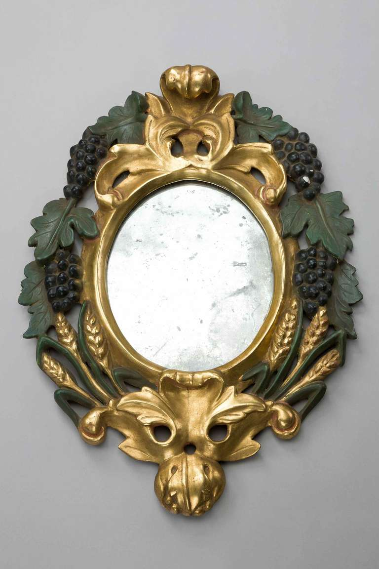 English Pair of Late 19th Century Italian Mirrors For Sale