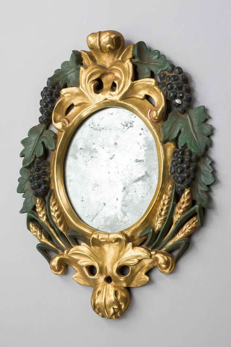 Pair of Late 19th Century Italian Mirrors In Good Condition For Sale In Peterborough, Northamptonshire
