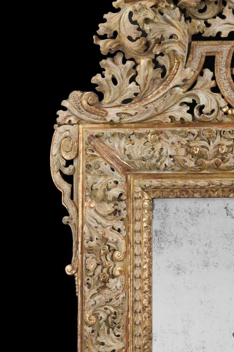 Early 18th Century Swedish Mirror In Good Condition For Sale In Peterborough, Northamptonshire