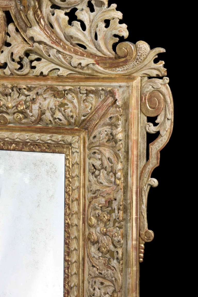 18th Century and Earlier Early 18th Century Swedish Mirror For Sale