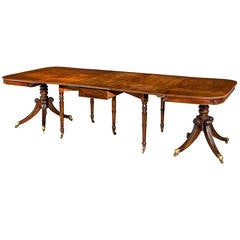 Regency Period Mahogany Extending Dining Table.