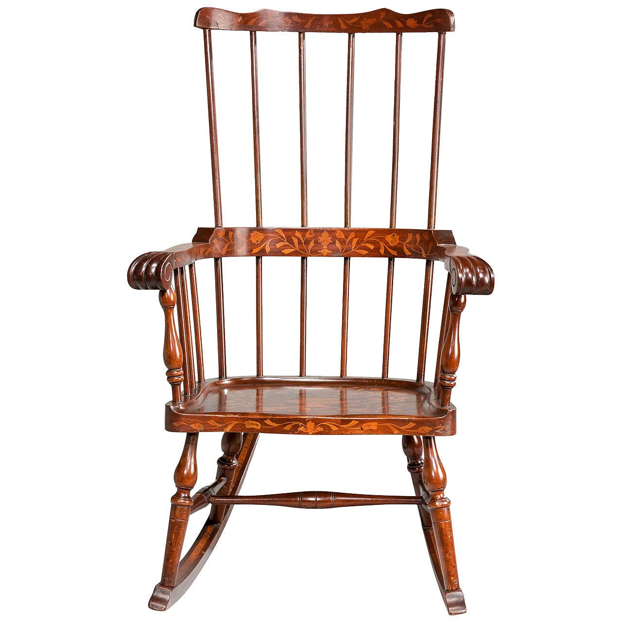 Basket Weaving Peterborough : Th century dutch marquetry rocking chair at stdibs