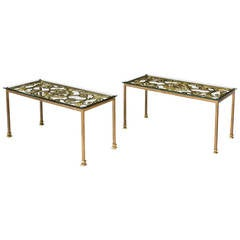 Pair of Cast Iron End Tables