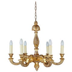 Baroque Form Six-Arm Chandelier
