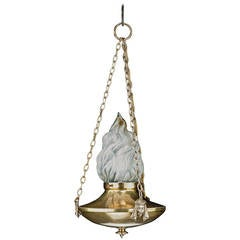 Regency Style Single-Light Chandelier