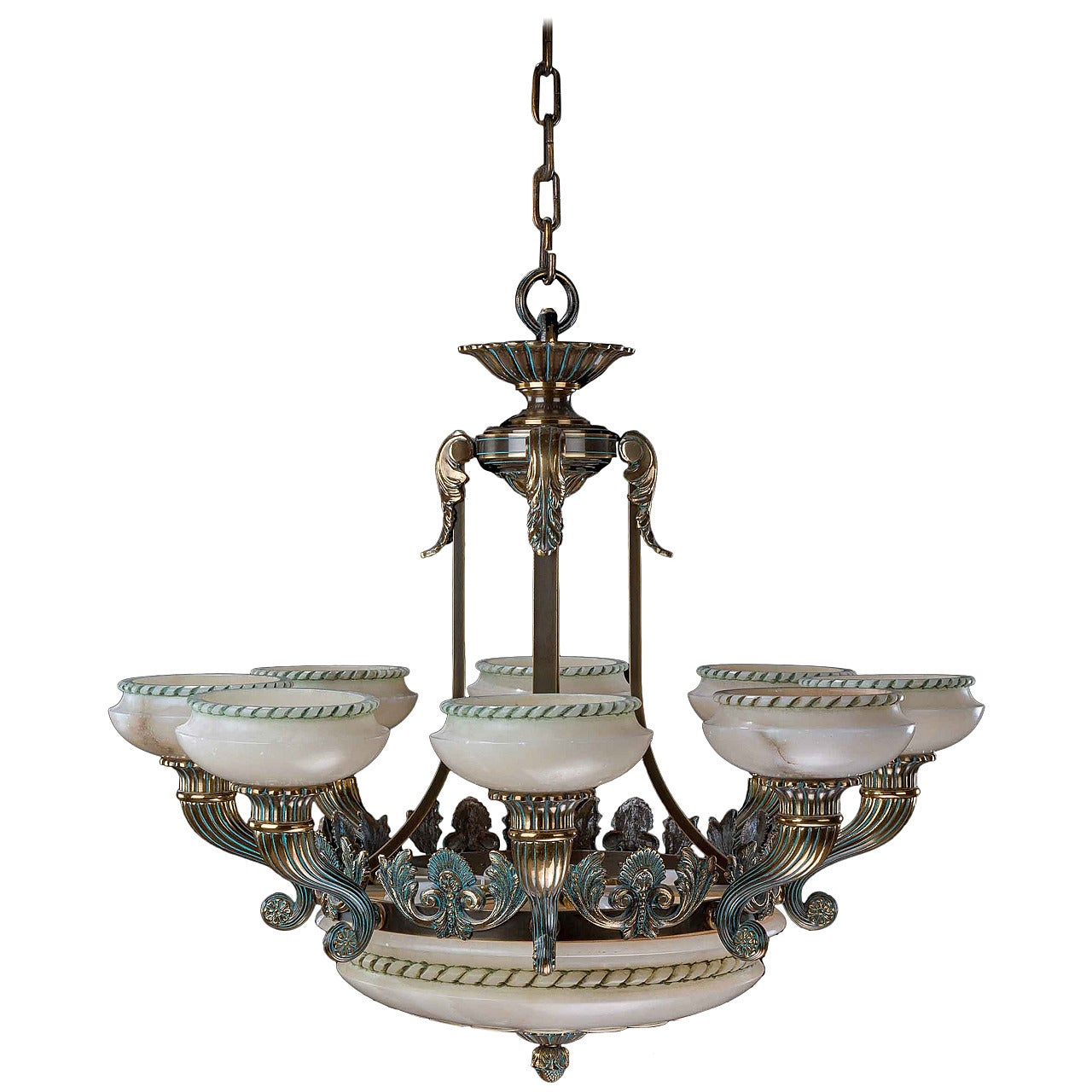 Early 20th Century Eight-Arm Chandelier