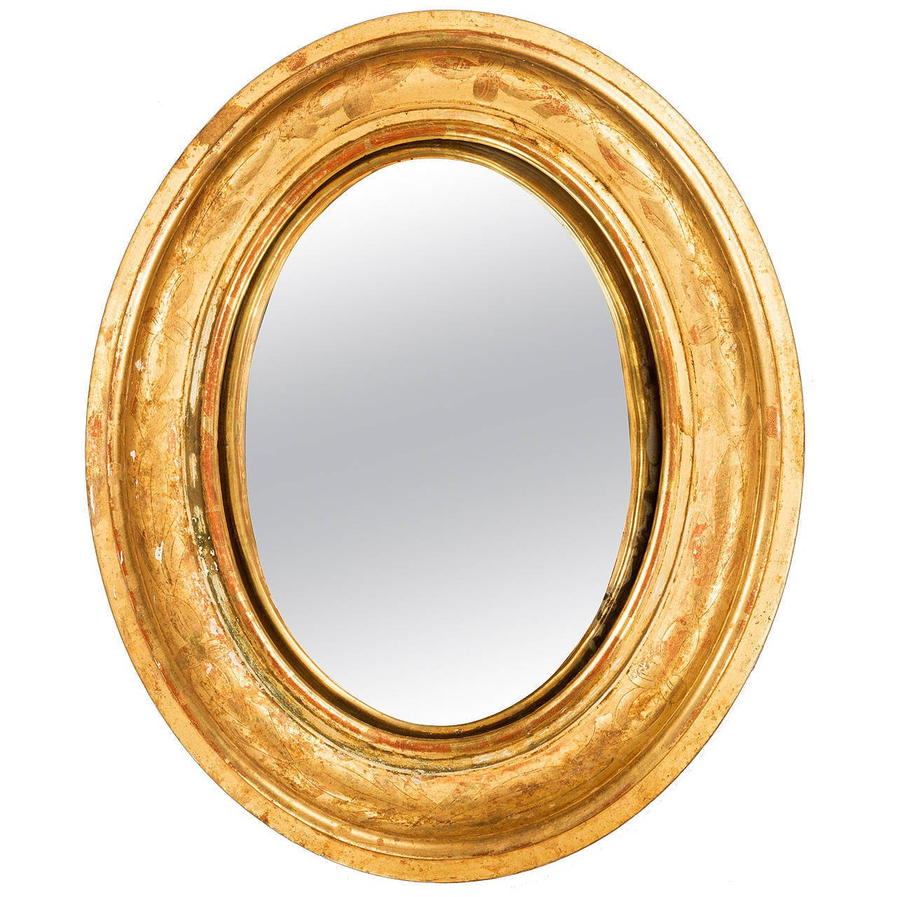 19th century small convex mirror for sale at 1stdibs for Convex mirror for home