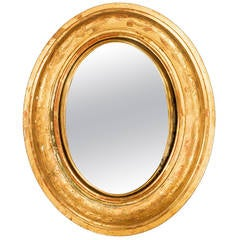 19th Century Small Convex Mirror