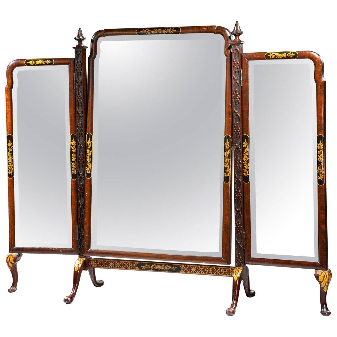 Late 19th Century Triple Plate Dressing Mirror For Sale