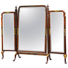 Late 19th Century Triple Plate Dressing Mirror