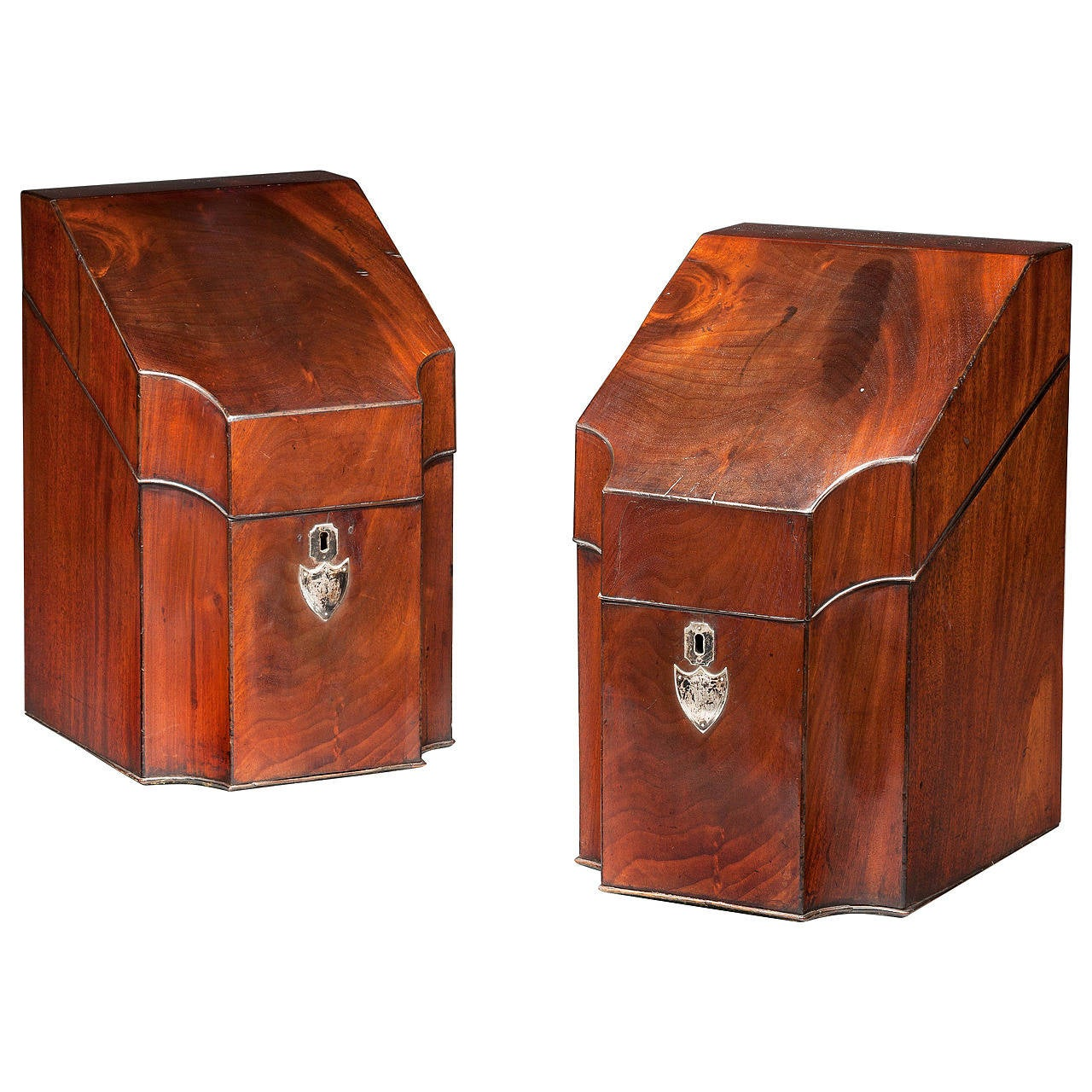 Pair of George III Knife Boxes