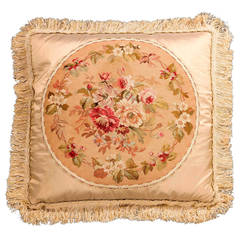 Cushion: 18th Century, Wool. A Bouquet of Flowers