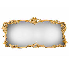 Chippendale Period, Overmantel Landscape Shaped Mirror