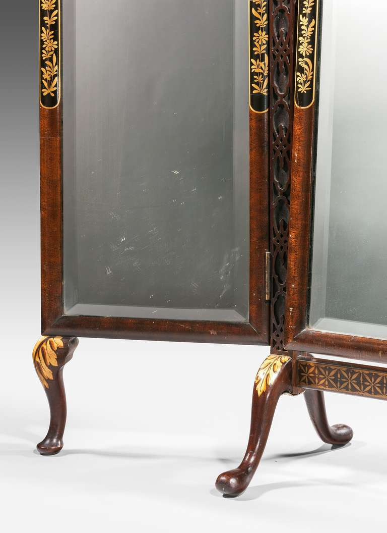 Late 19th Century Triple Plate Dressing Mirror In Excellent Condition For Sale In Peterborough, Northamptonshire