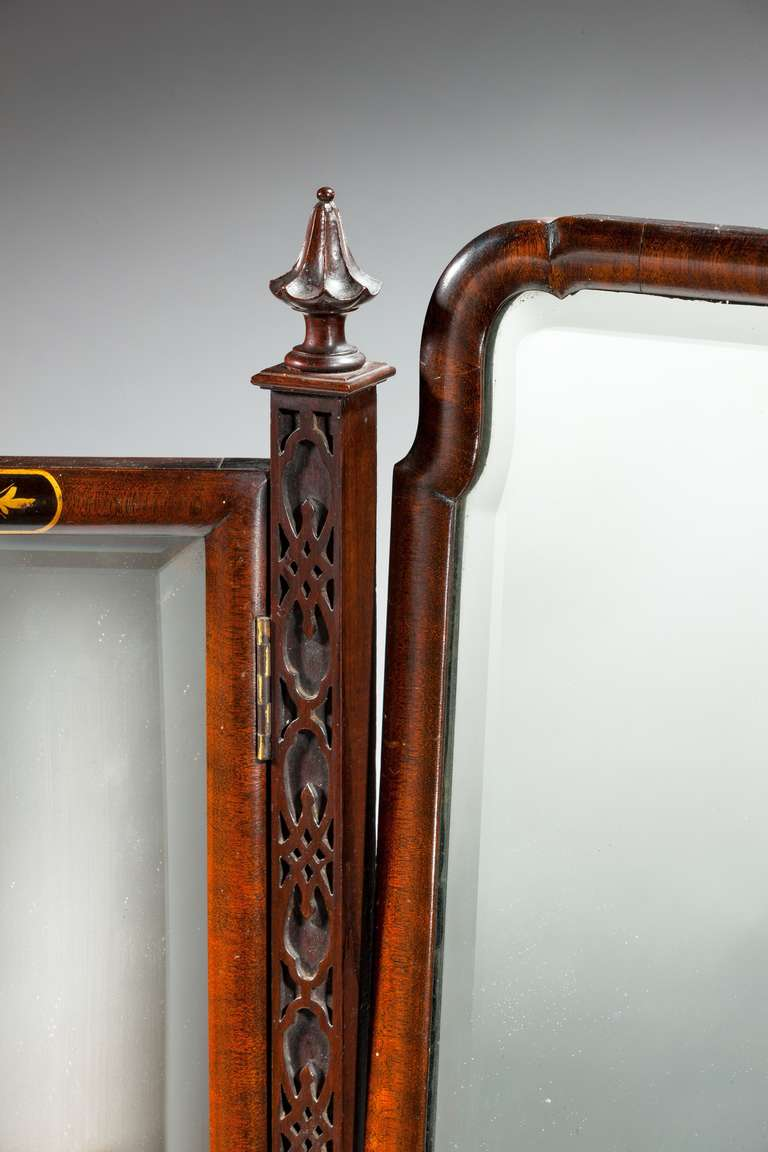 20th Century Late 19th Century Triple Plate Dressing Mirror For Sale