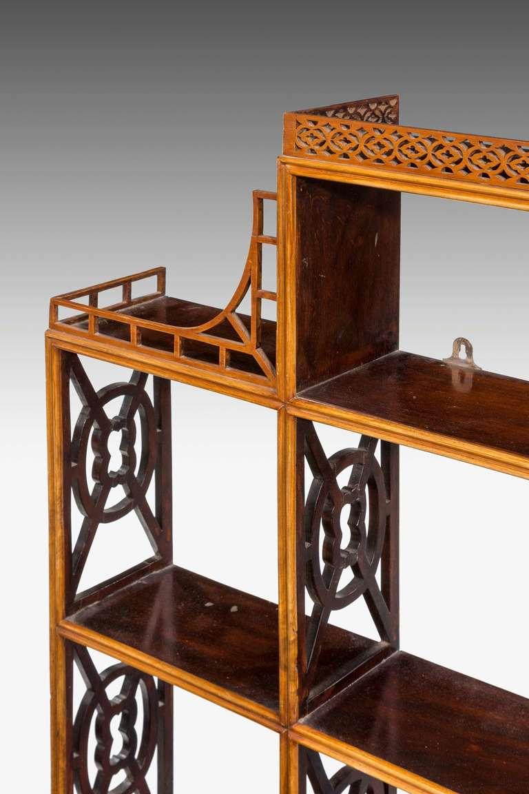 19th century hanging wall shelves for sale at 1stdibs. Black Bedroom Furniture Sets. Home Design Ideas