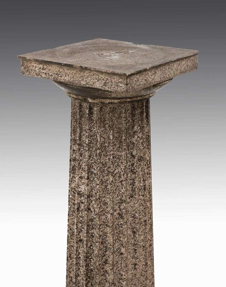 Pair of Regency Period Granite Column Pedestals In Good Condition For Sale In Peterborough, Northamptonshire