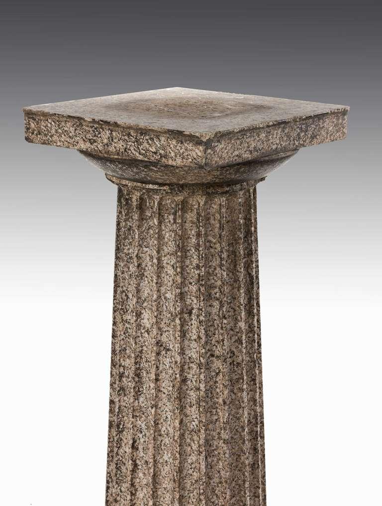 19th Century Pair of Regency Period Granite Column Pedestals For Sale