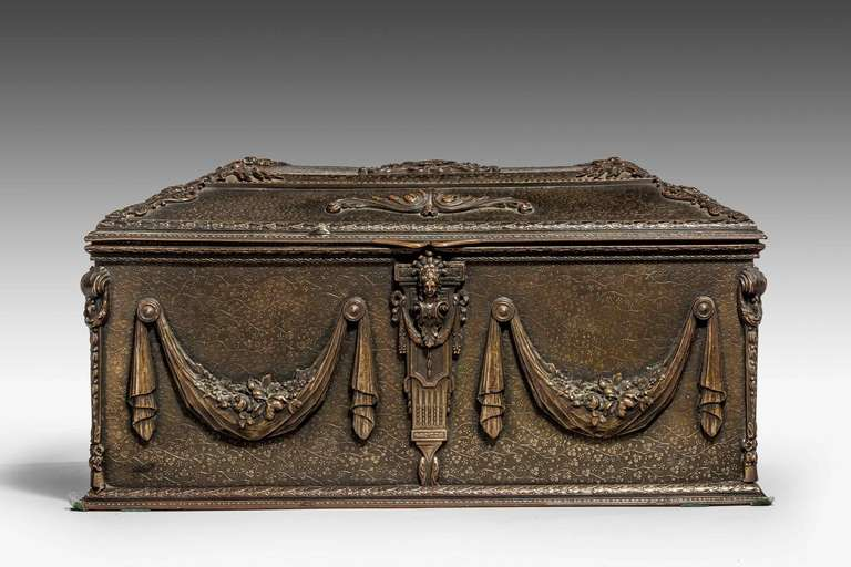 English 19th Century Bronze Casket For Sale