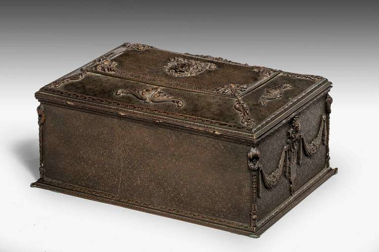 19th Century Bronze Casket In Excellent Condition For Sale In Peterborough, Northamptonshire