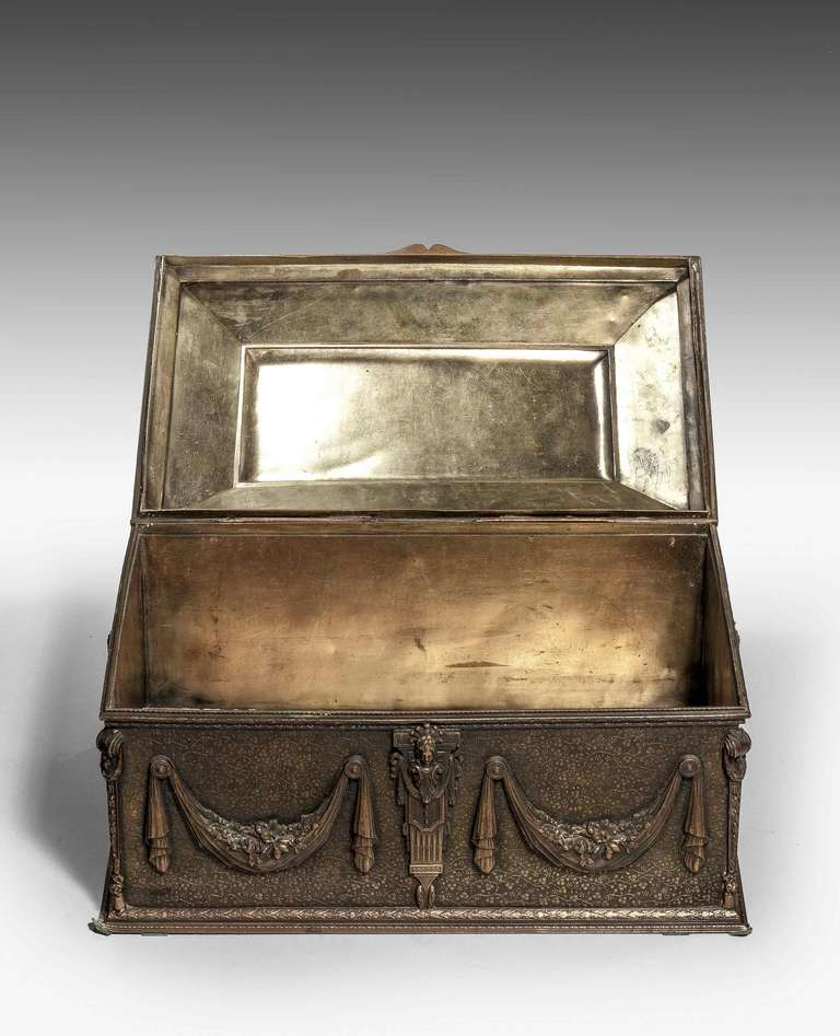 19th Century Bronze Casket For Sale 1