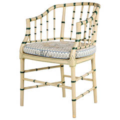Elegant Faux Bamboo Elbow Chair