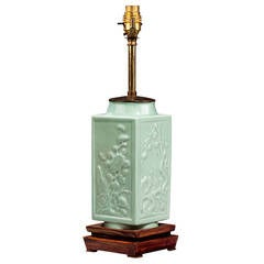 20th century Single Celadon Green Lamp