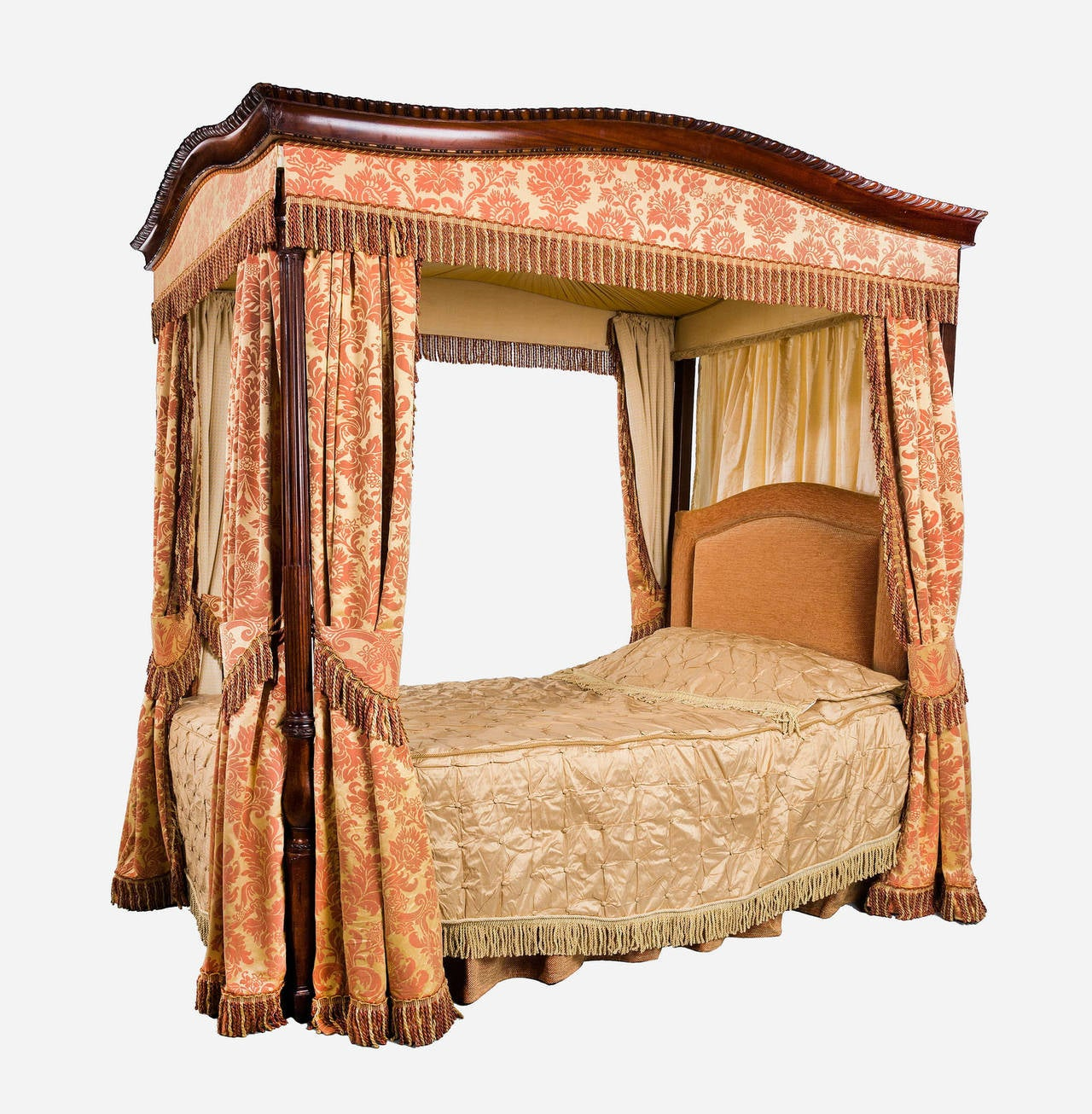 Four Poster Bed Early 20th Century Mahogany Frame Four Poster Bed For Sale At 1stdibs