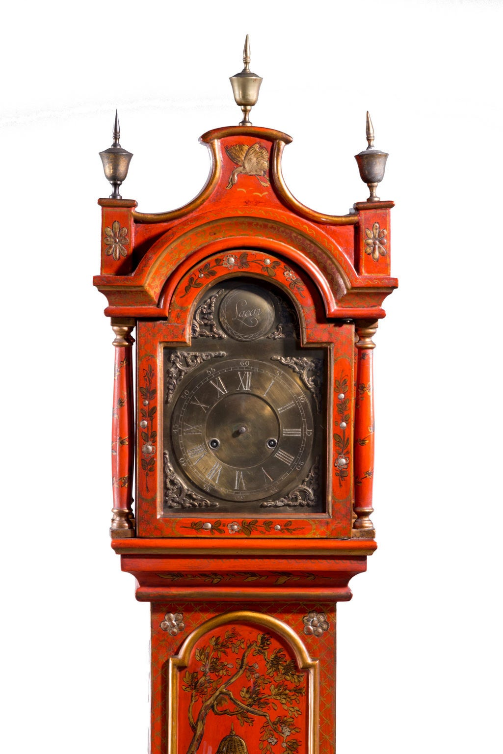 Early 20th Century Chinoiserie Granddaughter Clock 5