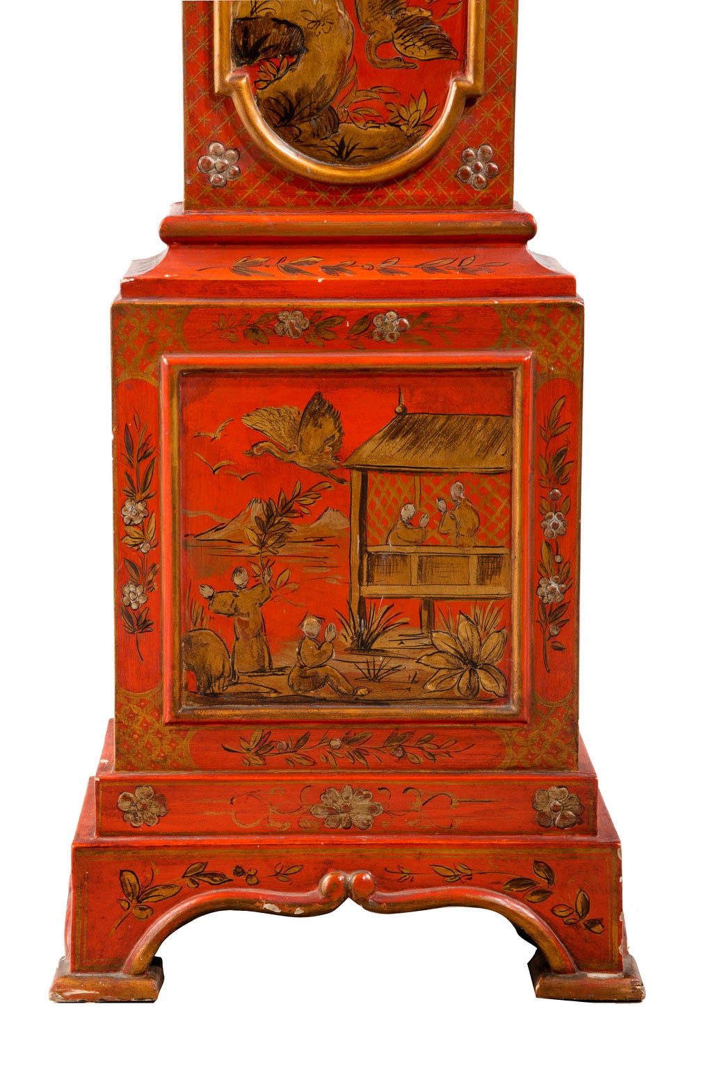 Early 20th Century Chinoiserie Granddaughter Clock 9