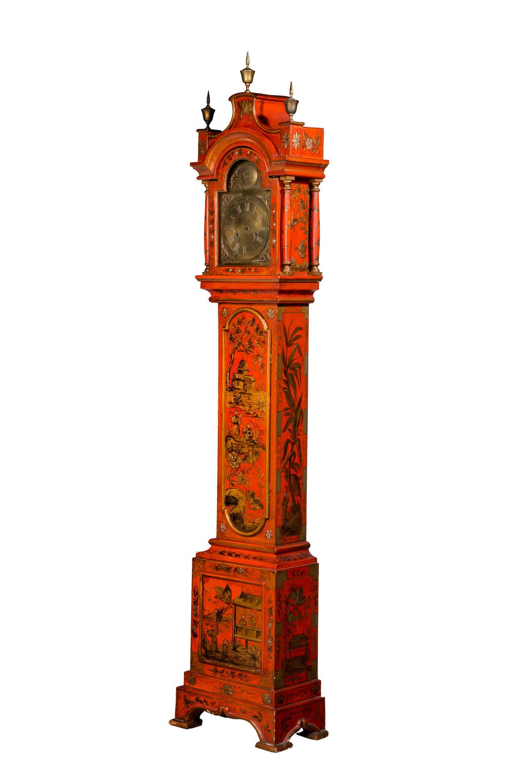 Early 20th Century Chinoiserie Granddaughter Clock 2