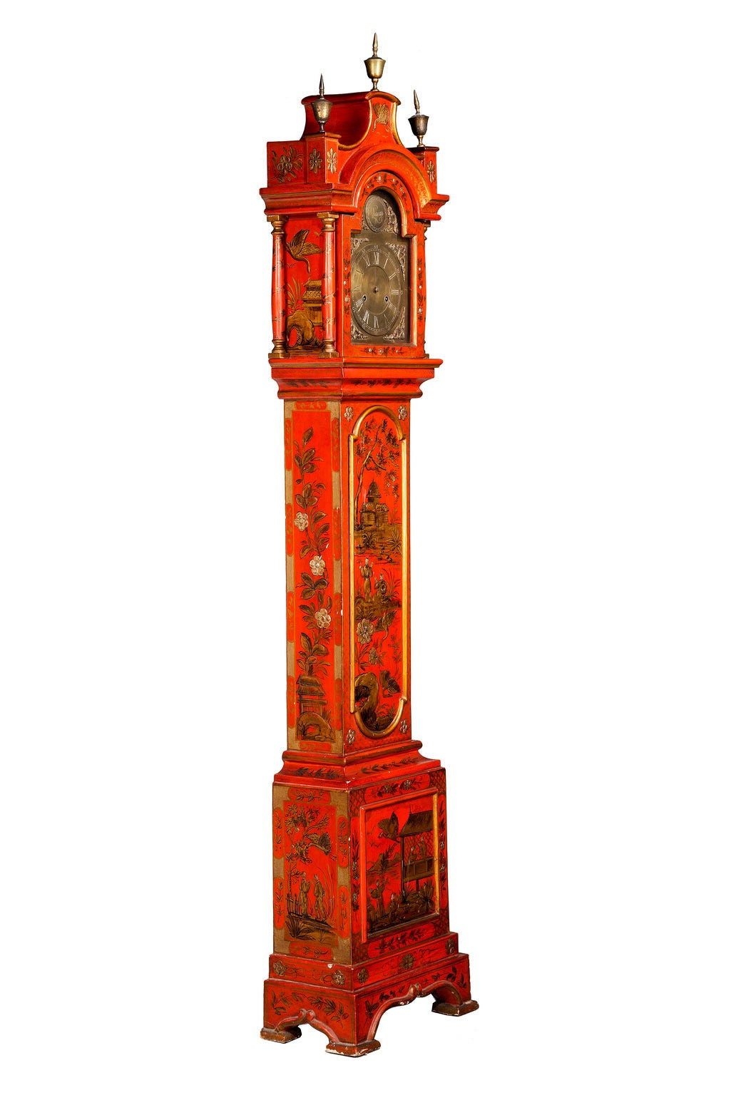 Early 20th Century Chinoiserie Granddaughter Clock 3