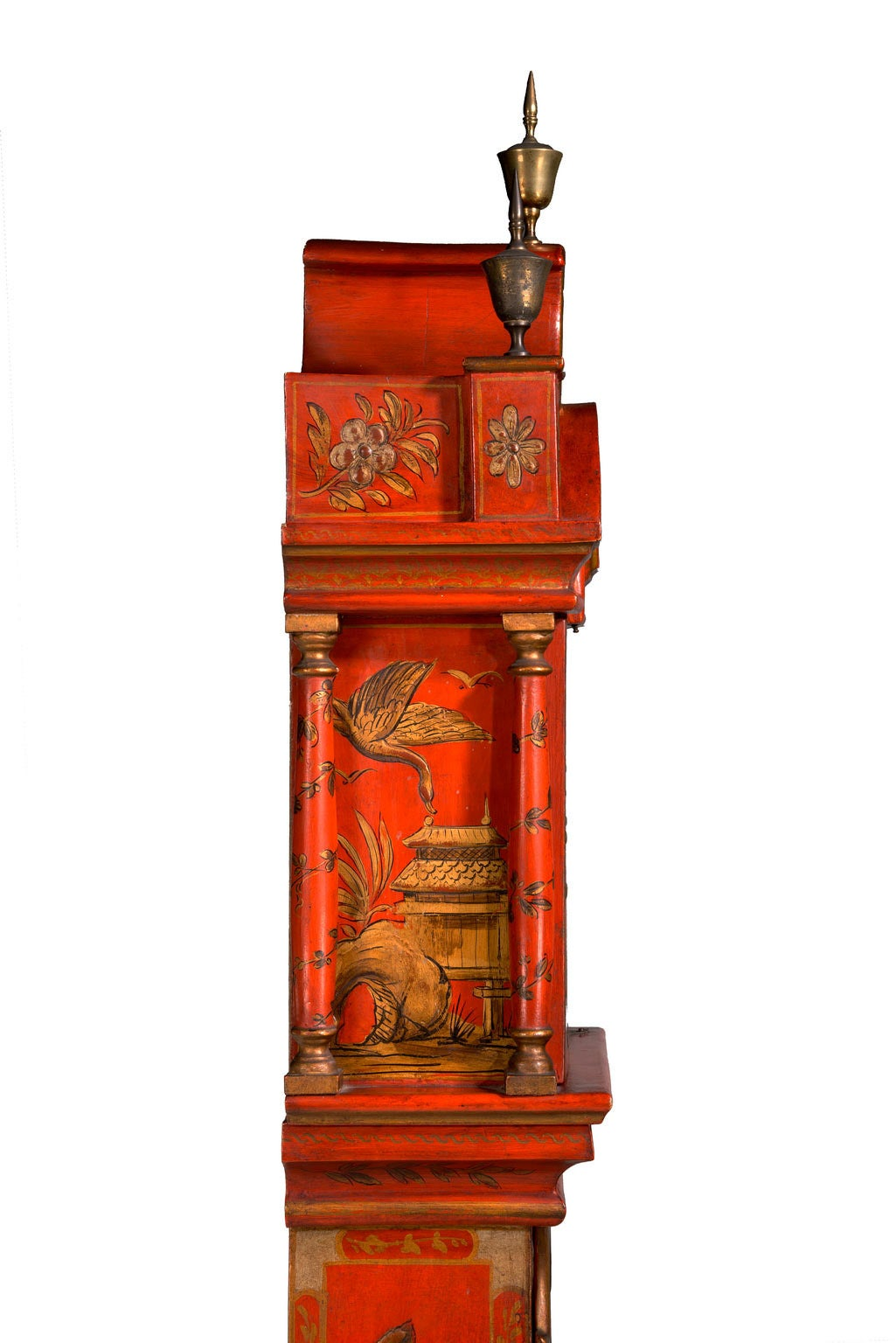 Early 20th Century Chinoiserie Granddaughter Clock 7