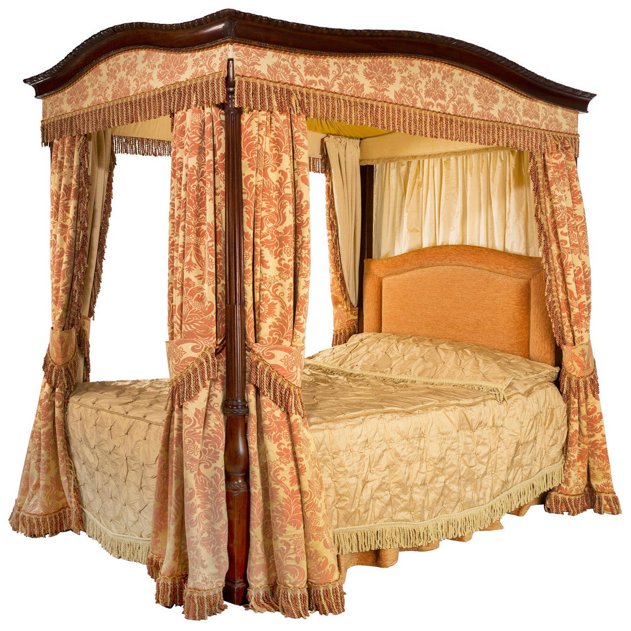 early 20th century mahogany frame four poster bed for sale. Black Bedroom Furniture Sets. Home Design Ideas