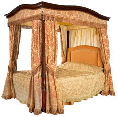 Early 20th Century Mahogany Frame Four-Poster Bed