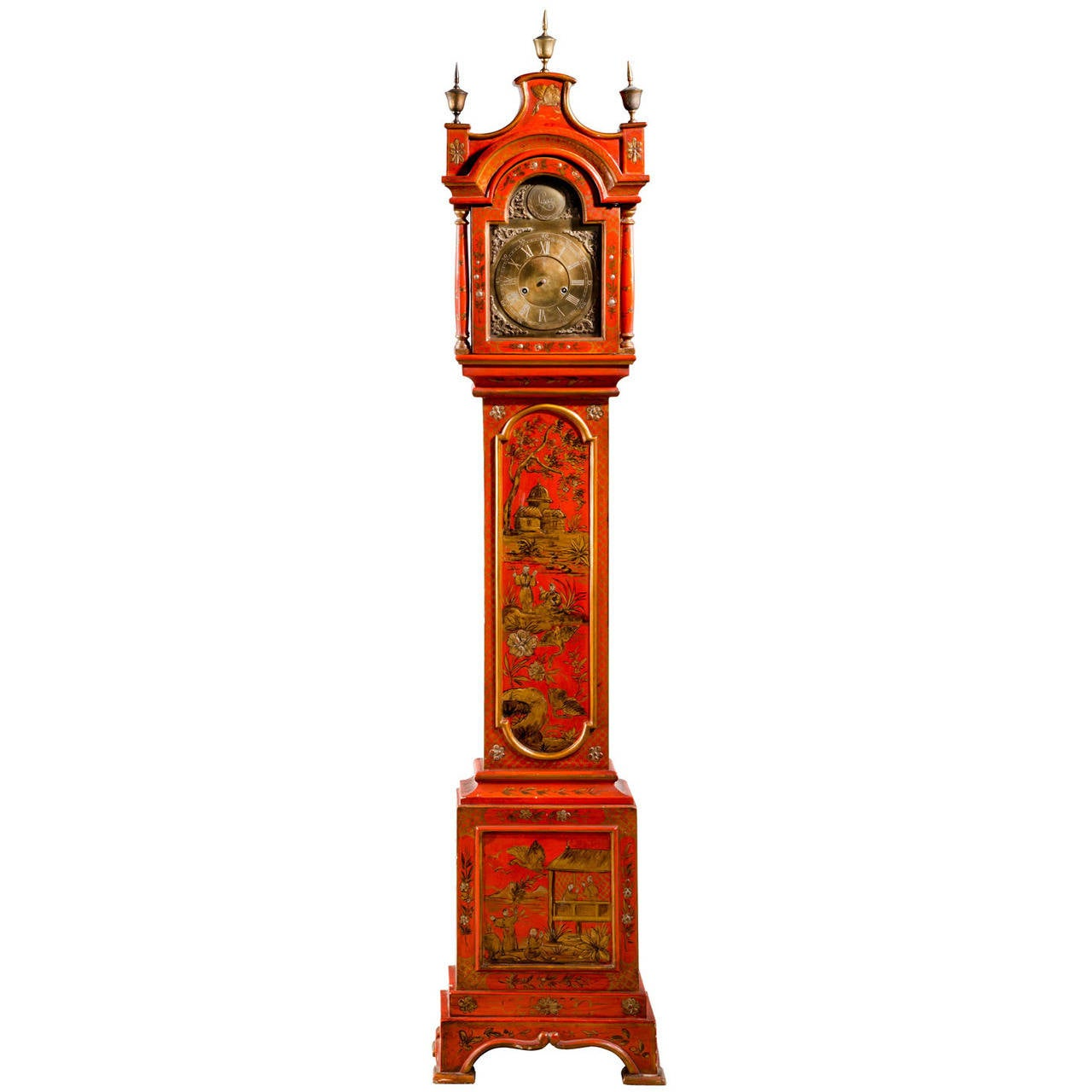 Early 20th Century Chinoiserie Granddaughter Clock 1