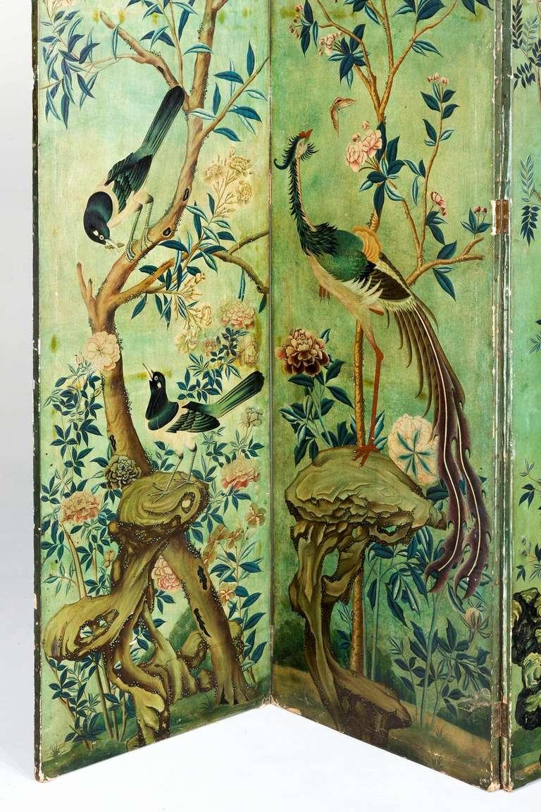 British Mid-19th Century Six Fold Screen