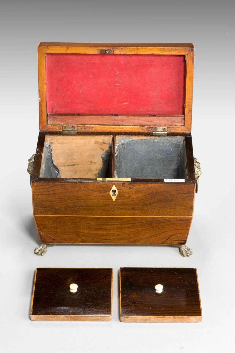 British Regency Period Tea Caddy For Sale